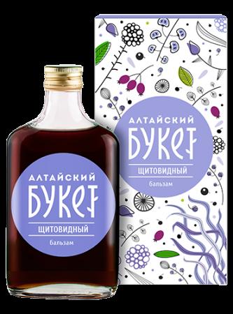 Купить Бальзам щитовидный «Алтайский букет», 250 мл в Москве: цена с доставкой в каталоге интернет аптеки АлтайМаг