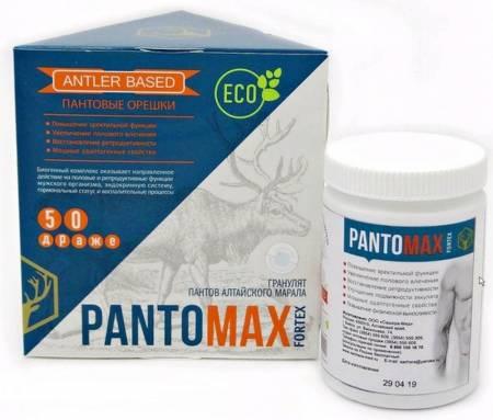 Купить Пантомакс пантовые орешки FORTEX, 50 драже в Москве